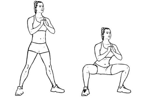 Bodyweight Sumo Squat