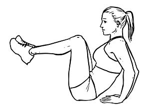 Leg Pull-in Knee-ups