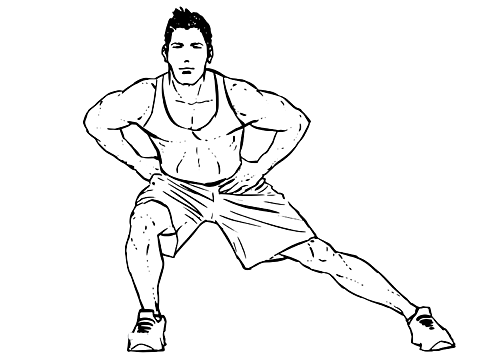 Standing Inner Thigh Side Stretch