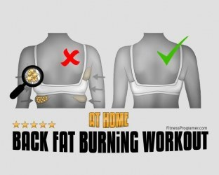 At Home Back Fat Burning Workout