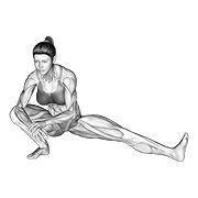 Inner Thigh Side Stretch