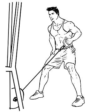 One Arm Cable Row