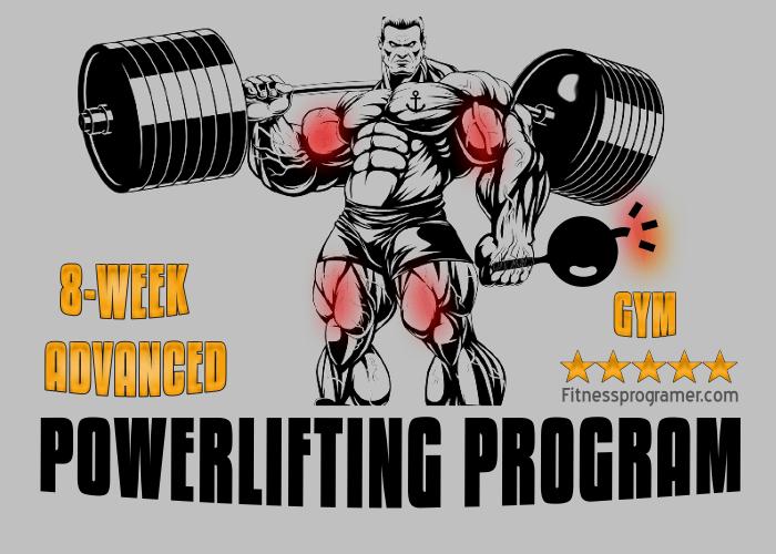 8-Week Advanced Powerlifting Program