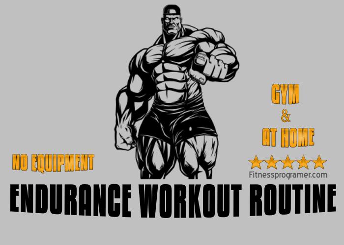 4- Week No Equipment Endurance Workout Plan